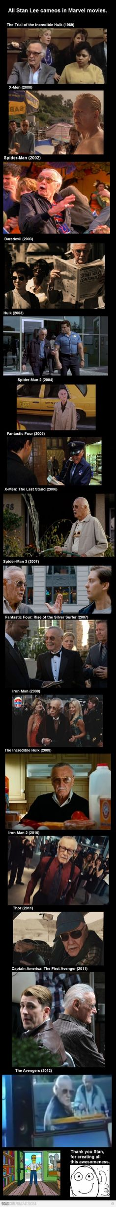 This has been a goal of mine!! Find Stan Lee in Marvel movies!!