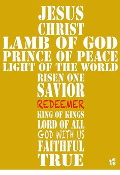 REDEEMER. OUR LORD