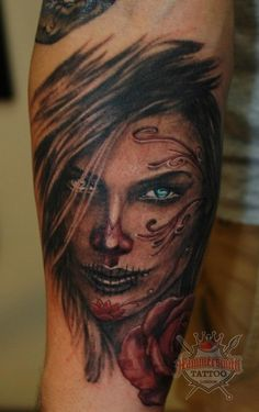 mexican skull girl tattoo - Google Search