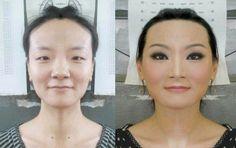 Garotas orientais mudam completamente seus rostos através da maquiagem; veja fotos - Beleza  http://www.geraldosouzamagazine.com.br/