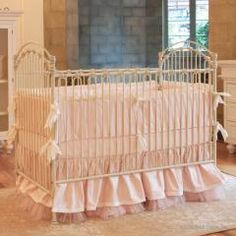 I love wooden furniture, but there's something about an iron baby crib that seems to be unique these days. Not to mention it will better show off some amazing crib bedding!