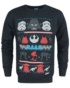 Official Star Wars Dark Side Fair Isle Christmas Men's Sweater (L)