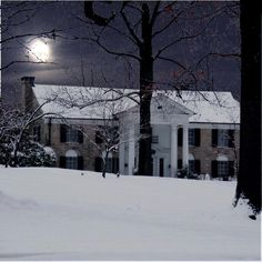 Winter at Graceland. Two of Elvis' favorite things!!!