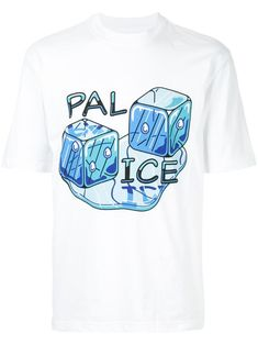 Palace pal ice T-shirt - White Ice T, Cotton Tee, Size Clothing, Palace, Street Wear, Women Wear, Short Sleeves, Blue And White, Mens Fashion