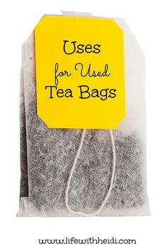 Uses for Used Tea Bags Drinking tea has many heath benefits but could it be possible there are some great uses for those used tea bags?…