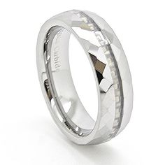 Unique 6mm White Carbon Fiber Inlay Diamond Facet Tungsten Carbide Wedding Band Engagement Ring Fashion Jewelry Gift Size 14 Blue Chip Unlimited http://www.amazon.com/dp/B0091G3HAY/ref=cm_sw_r_pi_dp_SFiMvb09FJP6A