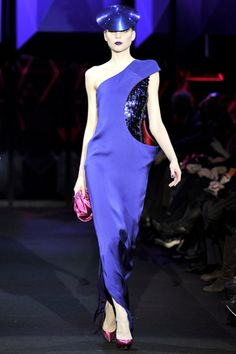 purple and red Armani couture fabrics!