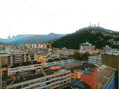 Foto-pintura - Teresópolis (vista parcial) / Photo-painting - Teresopolis (partial view)