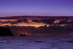Wonderful purple sunrise view to the beach of Vik i Myrdal My Photos, Sunrise, Celestial, Purple, Beach, Outdoor, Outdoors, The Beach, Sunrises