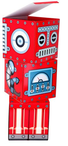 Cute robot storage for the Big Yam's robot/space-themed room.