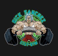 Rick and Morty Gym Logo, I Movie, Avengers, Geek Stuff, Fan Art, Gym Humor, Musicians, Tv Series, Cartoons