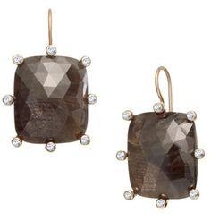 Mocha Sapphire Earrings by Suzy Landa