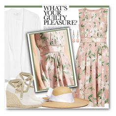 """Spring Blush:  Floral Dress"" by brendariley-1 ❤ liked on Polyvore featuring Hobbs, MANGO, Sensi Studio, Loewe and Irene Neuwirth"