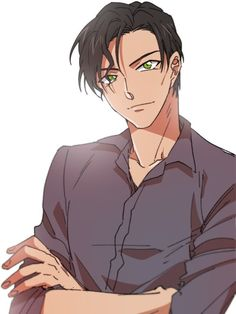 Cool Anime Guys, Cute Anime Boy, Detective Conan Gin, Detective Conan Wallpapers, Kaito Kid, Amuro Tooru, Detektif Conan, Digital Art Anime, Magic Kaito
