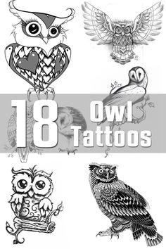 18 Owl Tattoo Designs | The Body is a Canvas