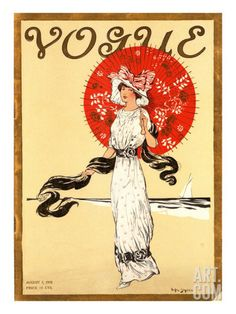 Vogue Cover - August 1910 Poster Print by Helen Dryden at the Condé Nast Collection