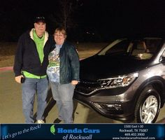 https://flic.kr/p/BHnuAb | Congratulations Susan And Steve on your #Honda #CR-V from Teal McDonald at Honda Cars of Rockwall! | deliverymaxx.com/DealerReviews.aspx?DealerCode=VSDF