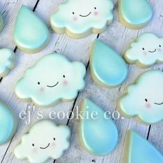 Cloud & rain cookies