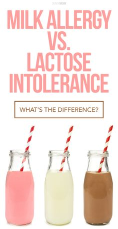Believe it or not there is a difference between Lactose Intolerance and milk allergies. We break it down for you here!
