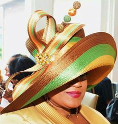 💜💜💜 - I Said Beautiful Hats! Church Suits And Hats, Church Hats, Church Attire, Church Dresses, Funky Hats, Crazy Hats, Turban, Wearing A Hat, Love Hat