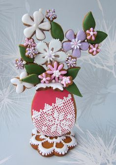 Gingerbread flowers.