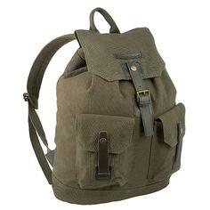 Khaki canvas rucksack