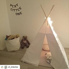 Einmal wieder Kind sein... Vielen lieben Dank an @cl_interior für diese hübsche Impression aus dem Kinderzimmer! #goodmoods #good__moods #stringlights #decoration #kids #kidsroom #kidsbedroom #tipi #whiteinterior #interior #2016 #lovely #lichterketten