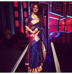 """poornimaindrajith in """" Sari Blouse Designs, Saree Blouse Patterns, Indian Attire, Indian Ethnic Wear, Indian Dresses, Indian Outfits, Wedding Saree Collection, Modern Saree, Indian Silk Sarees"""