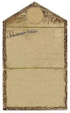 ALTERED ARTIFACTS: Free Vintage Clip Art Souvenir Folder