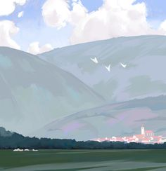 I have been spending a lot of time in the train recently. I tried to toy with composition and brushstroke design a bit