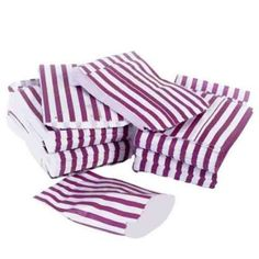 Purple Candy Stripe Paper Bag   #bags #carrierbags #paperbags