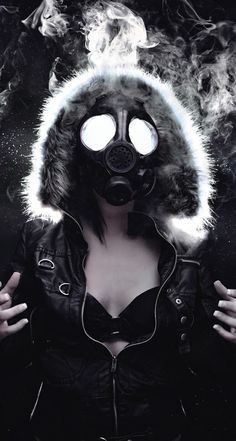 girl with gas mask | ... woman masked gas mask iphone wallpaper tags dark gas…