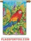 Pretty Parrot House Flag - 2 left Party Flags, House Flags, Oclock, Garden Flags, Parrot, Rooster, Print Design, Joy, Birds