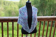 Ravelry: Summer Dreams Shawl pattern by Kim Abts Great Shawl! Shawl Patterns, Knitting Patterns Free, Free Knitting, Free Pattern, Knitted Shawls, Crochet Shawl, Knit Crochet, White Clouds, How To Purl Knit