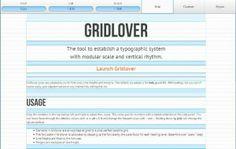 WebDesign Typographie avec échelle modulaire - Gridlover http://noemiconcept.com/index.php/fr/departement-communication/news-departement-com/item/206239-typographie-avec-%C3%A9chelle-modulaire-gridlover.html