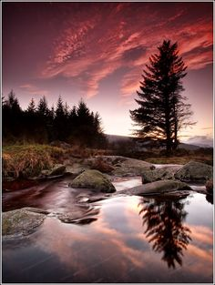 Sunset in Wicklow Mountains National Park, Wicklow, Ireland. Sigh.. I have been lucky and been here :)