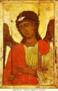 Archangel Gabriel. 13th-14th century. 66 x 38 cm. From the Cathedral of St. John Chrysostom in Cyprus. The Museum of Nicosia, Cyprus.