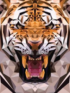 Funny pictures about Geometric Tiger Made From Triangles. Oh, and cool pics about Geometric Tiger Made From Triangles. Also, Geometric Tiger Made From Triangles photos. Art And Illustration, Art Tigre, Polygon Pattern, Polygon Art, Ps Wallpaper, Tiger Wallpaper Iphone, Iphone 7 Wallpapers, The Meta Picture, Tiger Art