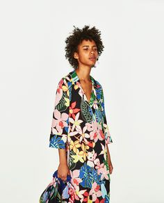 ZARA - SALE - TROPICAL PRINT OVERSHIRT