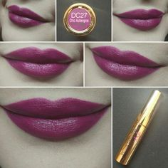 #Day19 Flormar Deluxe Cashmere Stylo Lipstick DC 27 Chic Aubergine