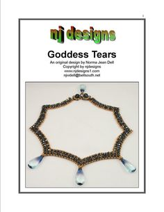 Instructions for Goddess Tears Necklace       Beading Tutorial via Etsy