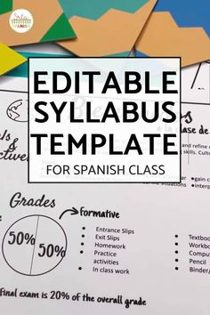 Check out this EDITABLE syllabus template for a middle school or high school secondary Spanish class! Easily edit this creative syllabus using Google Slides or Powerpoint. Perfect visual layout, without large paragraphs or chunks of text! Make sure your classroom is back to school ready with this cute template including expectations, procedures, policies, contact info, and more! Click to see more! #spanishclass #secondaryspanish