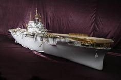 MK.1 Design - Portaerei USS CV-8 Hornet in scala 1:200, super dettagliata, pacco…