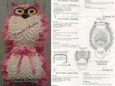 Dulcescreacionesdeary Set Of Bathroom Tissue Crochet Towel, Crochet Dolls, Crochet Yarn, Crochet Flowers, Crochet Necklace Pattern, Crochet Motif Patterns, Small Crochet Gifts, Wc Set, Crochet Projects