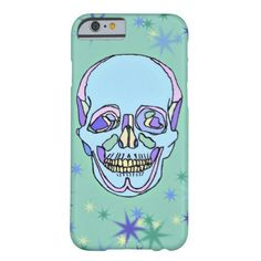 Blue, Purple, Green Pastel Skull iPhone 6 Case #pastel #skulls #iphone6 #zazzle #whatjacquisaid