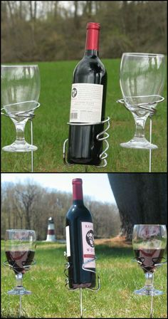 This Clever Solution Keeps Your Glass or Bottle From Spilling While Enjoying The Outdoors