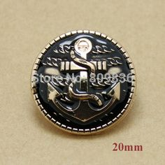 20mm Vintage anchor design black buttons, metal shank button for garment,sewing button,scrapbooking diy accessories(ss 4089)-in Buttons from Apparel & Accessories on Aliexpress.com | Alibaba Group