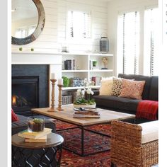 Anybody know the source for this pretty living room? (This is when Pinterest becomes frustrating for me...)