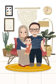 Family Illustration, Pictures To Draw, Cute Quotes, Office Decor, Hand Drawn, Chibi, First Love, How To Draw Hands, Projects To Try