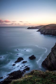 Nohoval Cove - Wild Atlantic Way by ty4acolm  landscape sea sunset water nature beach travel blue coast tourism colour alone vivid landmark cliffs